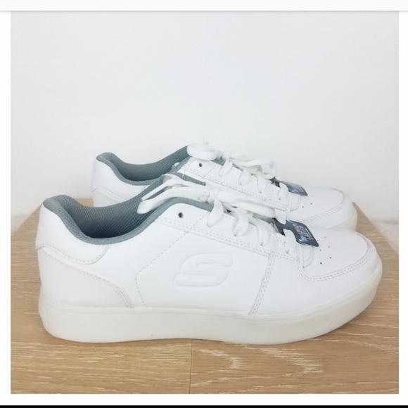 white skechers light up shoes